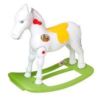 Качалка детская лошадка (белая) м5273