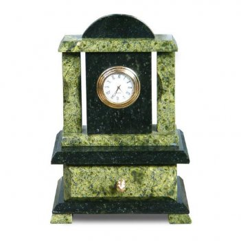 Часы со шкатулкой камень змеевик
