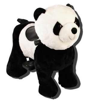 Зоомобиль панда кунг фу мидл с монетоприемником