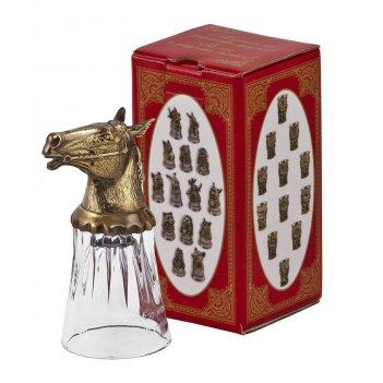 Стопка стеклянная лошадь, арт. сс-01к лошадь