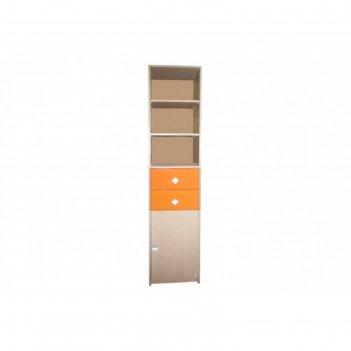 Шкаф-стеллаж «жили-были», цвет мадейра, клён