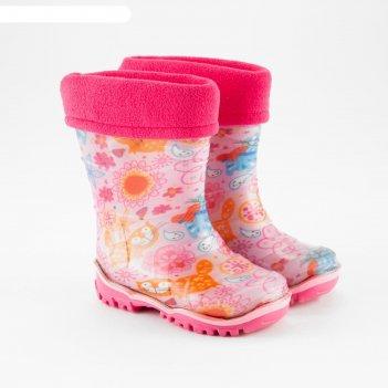 Сапоги детские, цвет розовый, размер 24