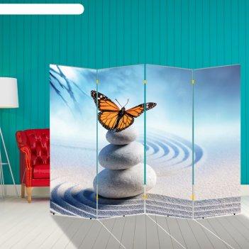 Ширма бабочка. декор 12, двухсторонняя, 200 x 160 см