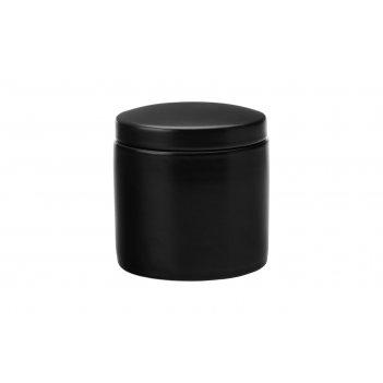 Банка для сыпучих продуктов (чёрная) эпикур, малая, в подарочной упаковке