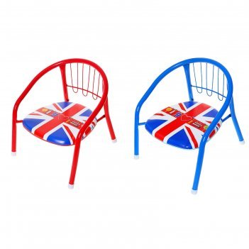 Детский стульчик я люблю лондон с пищалкой, мягкое сиденье 27 х 27 см