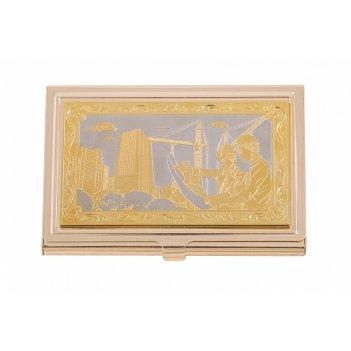 Визитница карманная строитель (в ассортименте) златоуст