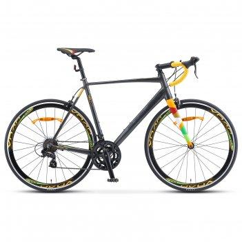 Велосипед 28 stels xt280 , v010, цвет серый/желтый , размер 23