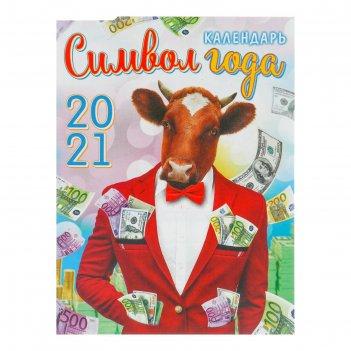 Календарь на магните, отрывной деньги в карманах 2021 год, 10х13 см