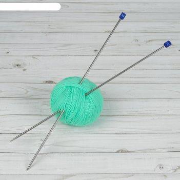 Спицы для вязания, прямые, d = 4 мм, 40 см, 2 шт