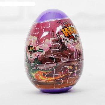 Тесто для лепки динозавры, пасхальное яйцо, 2 цвета по 20 г, формы, наклей