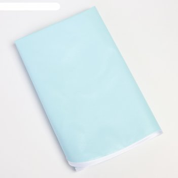 Клеенка 48*68 см., арт. 50711, пвх, с окантовкой, цвет голубой