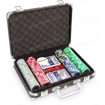 Набор для игры в покер на 200 фишек royal flush голографический