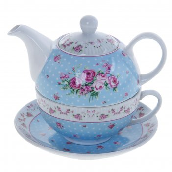 Набор чайный рондо, 3 предмета: чайник 330 мл, чашка 260 мл, блюдце 150 мм