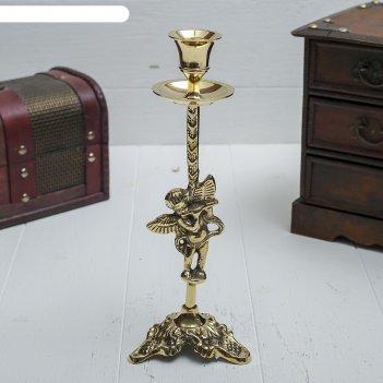 Подсвечник латунь ангел на 1 свечу 9х9х22 см