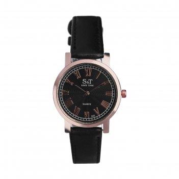 Часы наручные женские сит, циферблат d=3,6 см, черные