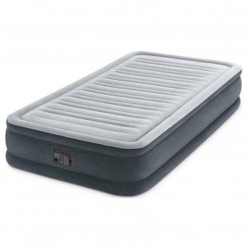 Матрас надувной comfort-plush twin 99х191х33 см, со встроенным насосом 220