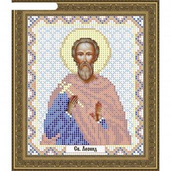 Основа для вышивания с нанесённым рисунком «святой леонид»