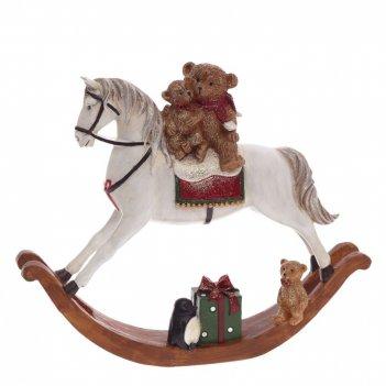 Фигурка декоративная лошадка, l29 w6,5 h24 см