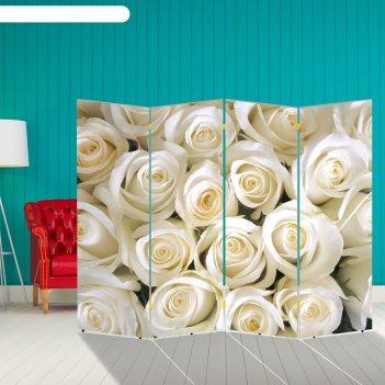 Ширма белые розы, 200 x 160 см