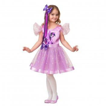 Карнавальный костюм сумеречная искорка, платье, заколка - волосы, р.32, ро