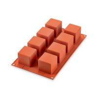 Форма для приготовления пирожных cube, размер: 24 х 12 см, материал: силик