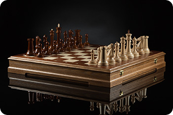 Шахматы стаунтон фаворит (тёмная доска) kadun 46х46см