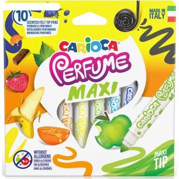 Фломастеры 10цв carioca perfume maxi ароматизированные, к/к, европодвес 42
