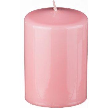 Свеча высота=10 см.диаметр=7 см.нежно-розовая