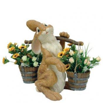Кашпо «заяц с коромыслом»