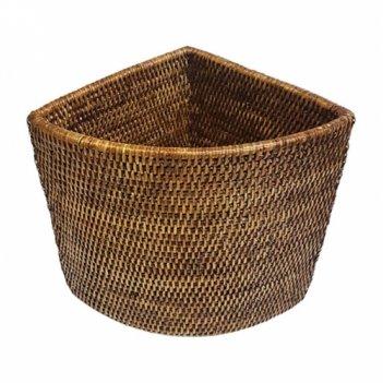 Угловая плетеная корзина №2