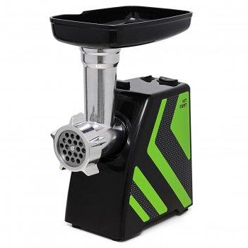 Мясорубка kitfort kt-2101-2, 1500 вт, 1.2 кг/мин, 4 насадки, реверс, зелен