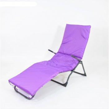 Подушка-матрас водоотталкивающ. 192х60х5 см, оксфорд 100% пэ, фиолет, синт