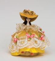 Rk-730 кукла-шкатулка дама в шляпке