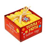 Наб. полотенец collorista тепла и уюта! 30х30 см-3 шт, 100% хлопок, 340 гр