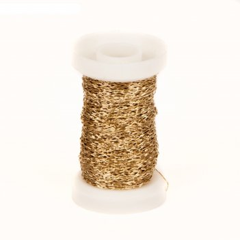 Проволока «бульонка» 0.3 мм, 30 г, золотой