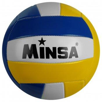 Мяч волейбольный minsa №5, pvс, машин сшивка, 260 г