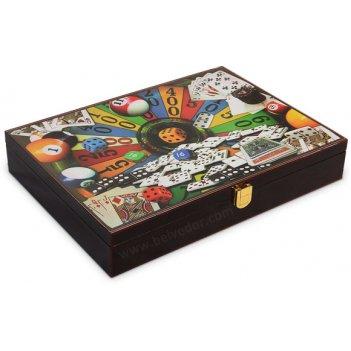 Деревянный кейс для покера на 200 фишек