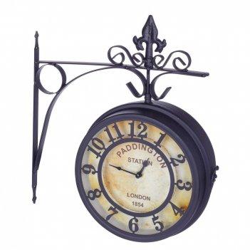 Часы двусторонние настенные декоративные, l31 w10 h35 см, (2хаа не прилаг.