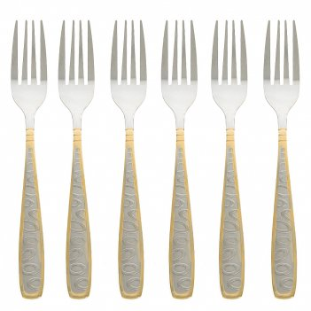 Набор столовых вилок 6 штук золотая легенда l=20см. (нержавеющая сталь) (у