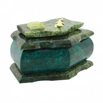 Шкатулка для украшений камень змеевик