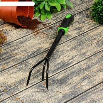 Рыхлитель, длина 37,5 см, 3 зубца, пластиковая ручка