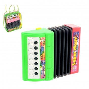Музыкальная игрушка аккордеон «музыкальный взрыв», 13 клавиш, работает от