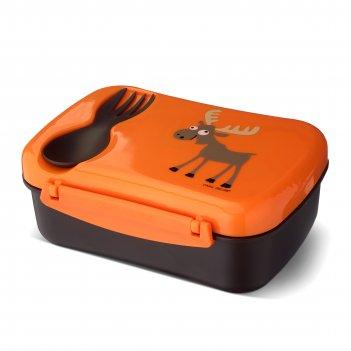 Ланч-бокс детский с охлаждающим элементом n'ice box™ moose оранжевый