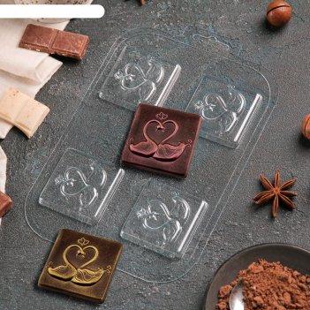 Форма для шоколада два лебедя