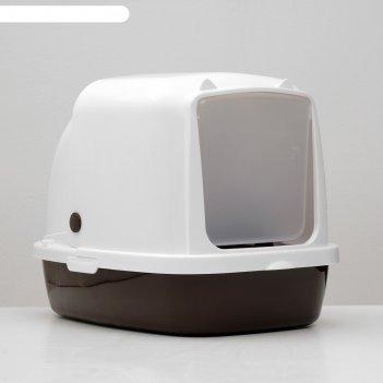 Туалет закрытый «айша», 53 x 39 x 40 см, коричневый