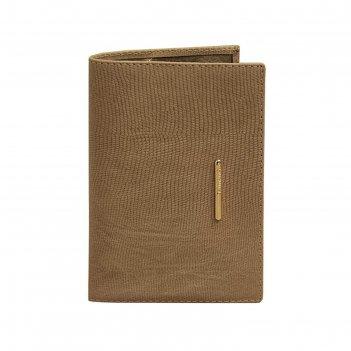 Обложка для паспорта, 9,7 х 0,2 х 14 см, цвет бежевый варан, серия nice