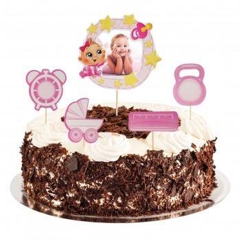 Топперы в торт наша малышка с фоторамкой