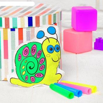 Игрушка-раскраска улитка, маркеры 4 цвета, смываются водой