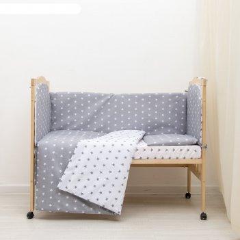 Кпб ноченька, цвет серый, бязь хл100%
