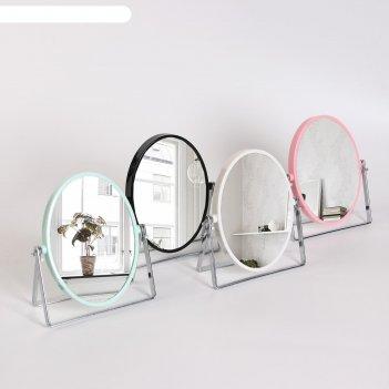 Зеркало наст пласт/мет подст овал (2) стиль 10,3*14/14*16см увел микс кор